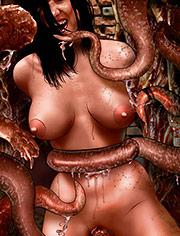 She must be taken by De Haro | Monster house | art, bdsm, comic, sadism