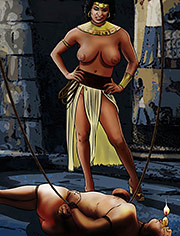 Hulasemi by Mr.Kane | Goddesses, Queens and slaves | art, bdsm, comic, slave