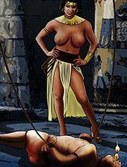 Hulasemi by Mr.Kane | Goddesses, Queens and slaves | art, bdsm, comic, slave