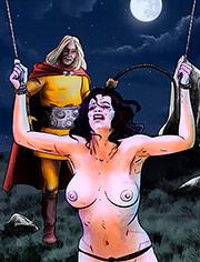Flagellated in the Moonlight by Mr.Kane | Enemies of Rome | art, bdsm, comic, cruel