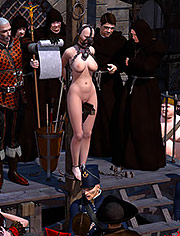 Their stake is a cruel invention by Riodoro | Inquisition | art, bdsm, comic, punishment