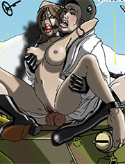 SS prison hell is back! Part 2! by Gary Roberts | I know of this little French spy | bdsm comix, vintage, cruel, bondage, war