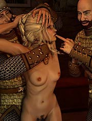 Safe passage | You want me to strip right here in front of all of you? | Quoom | 3D BDSM