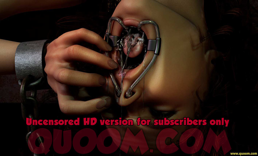 Her throat long ago having given out from her constant screams - Inquisition Hell 2 by Quoom