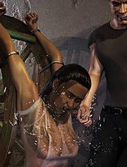 Punishment of a dirty traitor | Wet revenge | Quoom | 3D BDSM