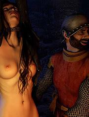 Was brought as prisoner to Lochlevel Castle | Marie Stuart | Quoom | Bondage 3D