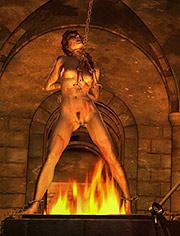 Preparing herself for the first taste of her sadism   Martyrs   Quoom   CGI BDSM